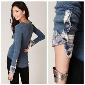 RARE Free People Blue Lou Cuff Thermal M